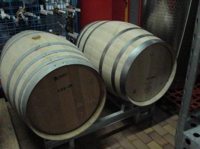 Beczki z Chardonnay