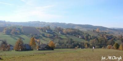 Widok z winnicy Brzozowa